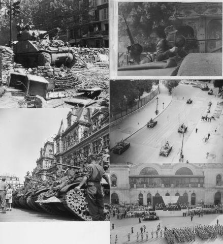 Environ 20 photographies de la libération de Paris
