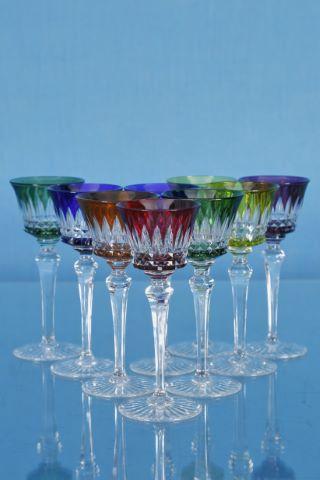9 verres à vin du Rhin, modèle Picadilly