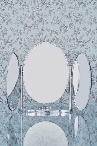 Miroir triptyque de coiffeuse à poser