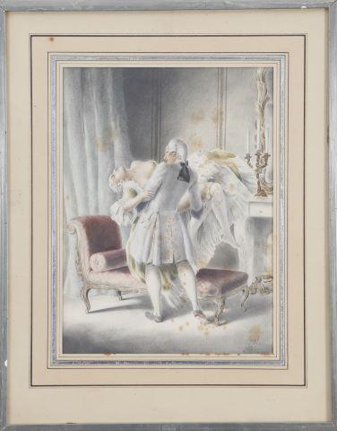 Scène galante à la duchesse Louis XV