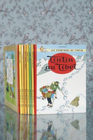 Suite de 8 albums de bande dessinée de Tintin