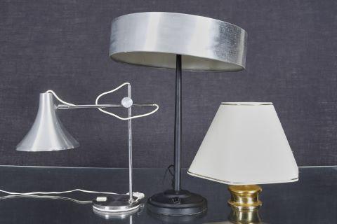 3 lampes à poser
