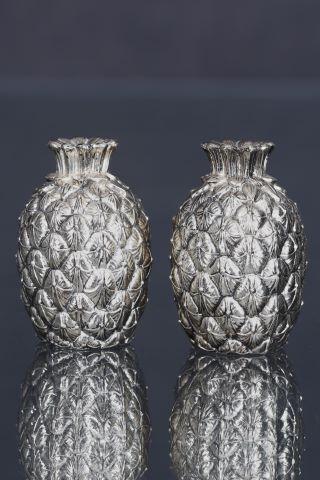 Salière et poivrière Ananas