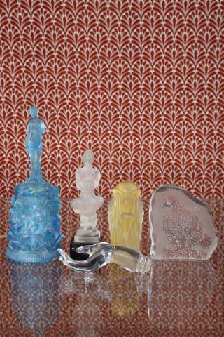 5 objets en verre
