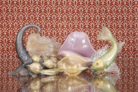 Ensemble de 7 objets en verre