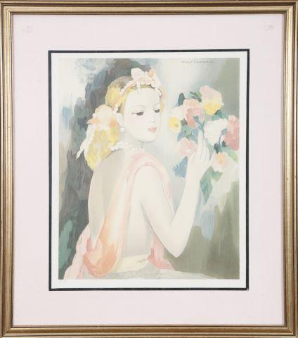 Jeune femme au bouquet de fleurs