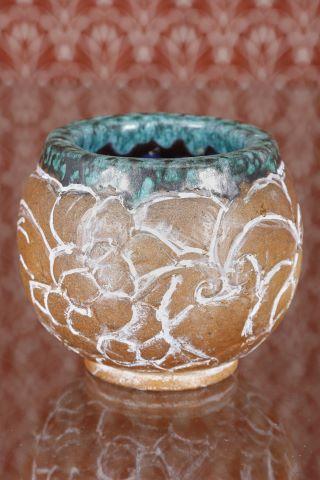 Vase boule + coupe sur piédouche