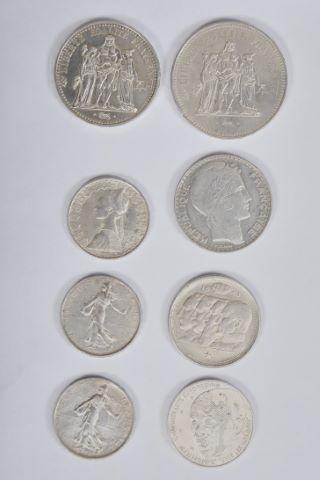 Ensemble de pièces en argent