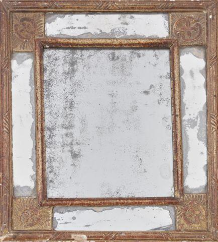 Petit miroir au tain à parecloses