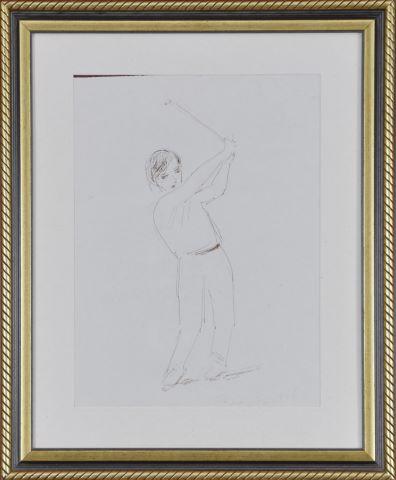 5 études de golfeurs