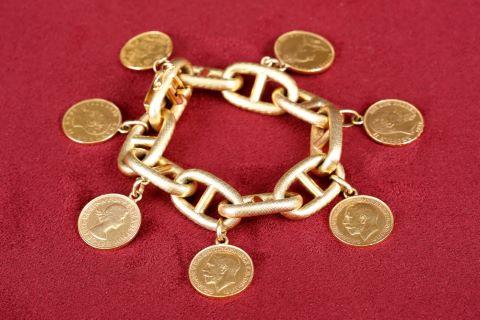 Bracelet charm's à mailles marine