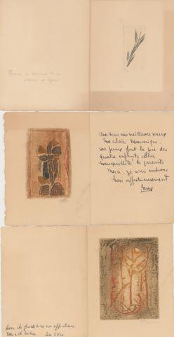 8 gravures et cartes de vœux