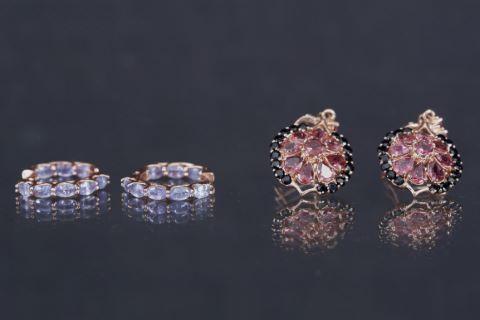 Paire de créoles et paire de pendants d'oreille