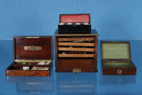 2 boîtes à cartes + 1 boîte à dominos + 1 cave à cigare