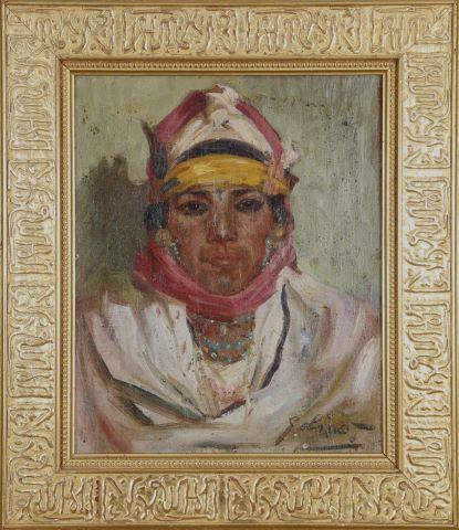 Jeune Berbère à la parure de turquoises