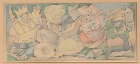 Great Malinches III, étude préalable à un tableau éponyme conservé au Fine Arts Center de Colorado Springs (États-Unis)