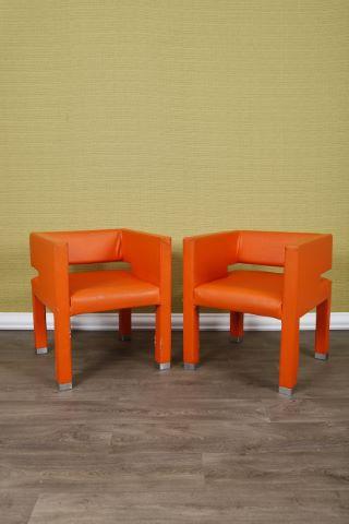 Paire de fauteuils banquise