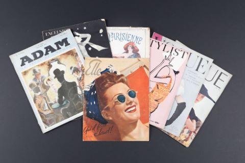 Fonds de bibliothèque de magazines de mode