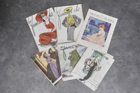 Important fonds de journaux et magazines de mode