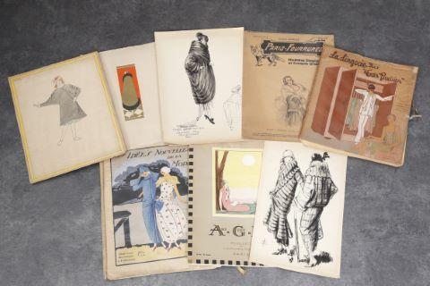 Divers revues et magazines illustrés, dessins de mode...