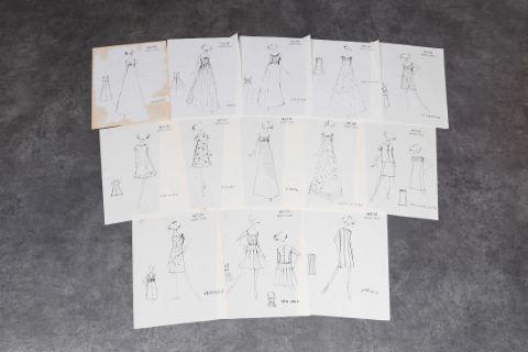 """[Mode] 13 dessins - Collection """"Jeunes filles"""""""