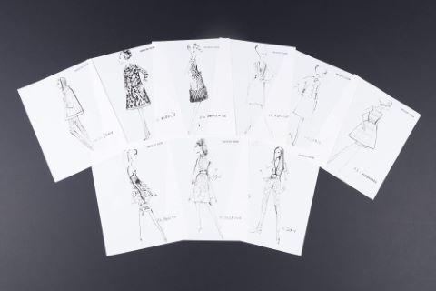 "[Mode] Rare ensemble de 60 dessins - Collections ""Haute couture"""