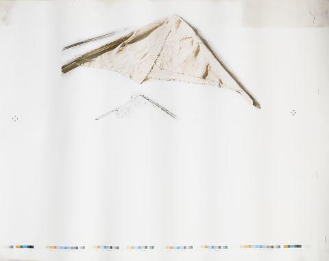 Maquette d'une affiche d'exposition à la Galerie Karl Flinker, Paris