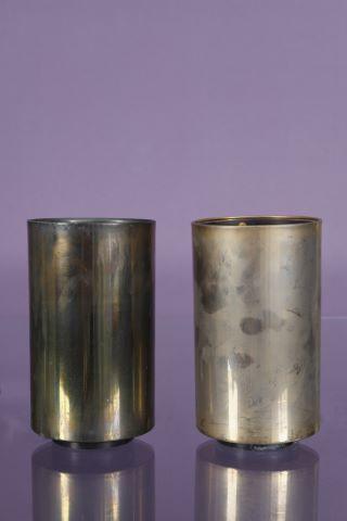 Paire de lampes cylindriques à poser, modèle Maroc