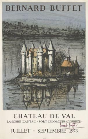 Affiche d'une exposition au Château de Val