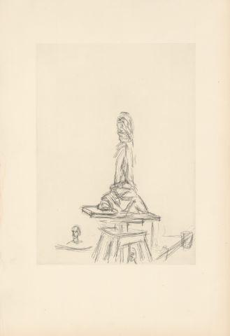 Atelier à la selette - projet pour la carte de vœux de la Galerie Beyeler de Bâle