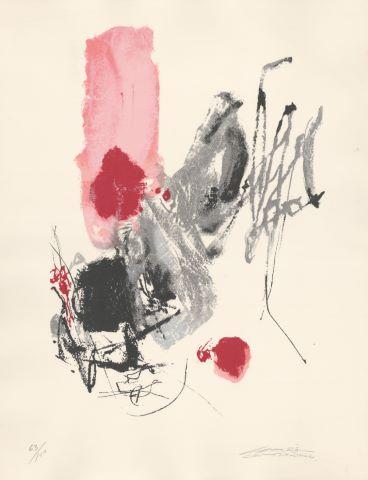 Composition rouge et noir