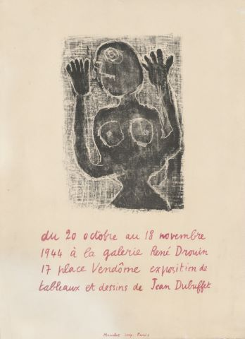 Exposition à la galerie René Drouin