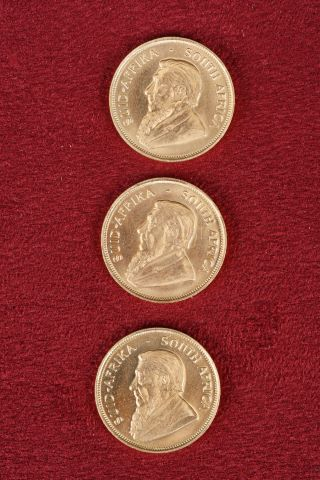 3 pièces de 1/2 Krugerrand