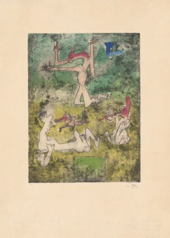Centre Nœds, d'une suite illustrant un poème d'Antonin Artaud
