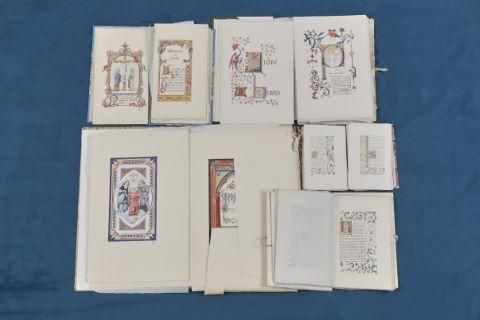 Ensemble de 6 livres enluminés + 1 missel