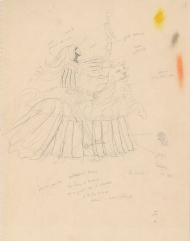 La Dame à la Licorne, étude du Chevalier