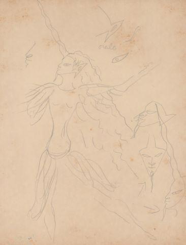 2 études pour La Dame à la Licorne