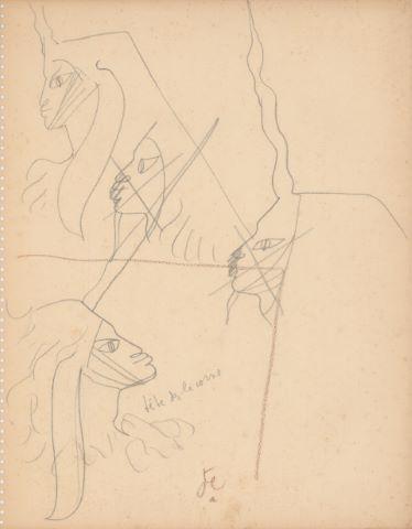La Dame à la Licorne, tête des licornes