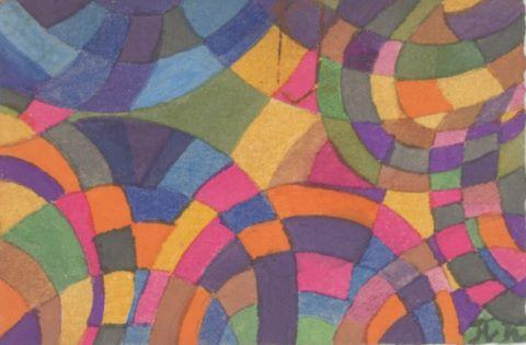 Petit dessin et important ensemble de cartes de visites d'artistes et divers