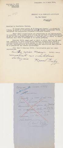 2 LAS et 1 lettre dactylographiée signée
