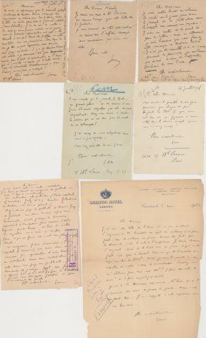 10 LAS, 1 coupure de presse et des cartes de Abel Faivre