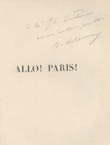 Allo ! Paris ! avec 20 lithographies par Robert Delaunay, texte de Joseph Delteil