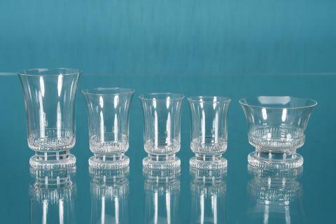 Service de 39 verres, modèle Art Déco