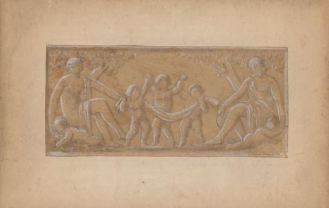 Études pour un projet de bas-relief (au Pré-Saint-Gervais ?) et de monument