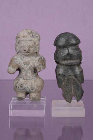 2 statuettes anthropomorphes