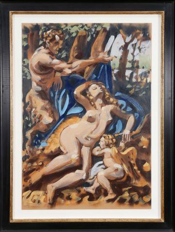 Faune et Vénus, hommage à Fragonard