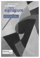 Vente signature de janvier