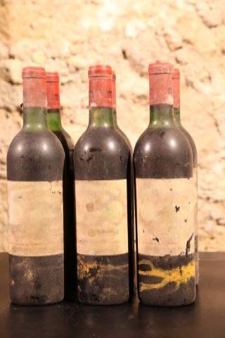 6 bouteilles 1970