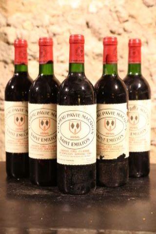 5 bouteilles 1986