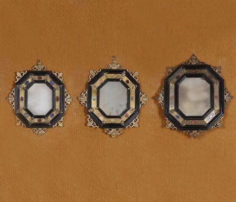Ensemble de trois miroirs octogonaux